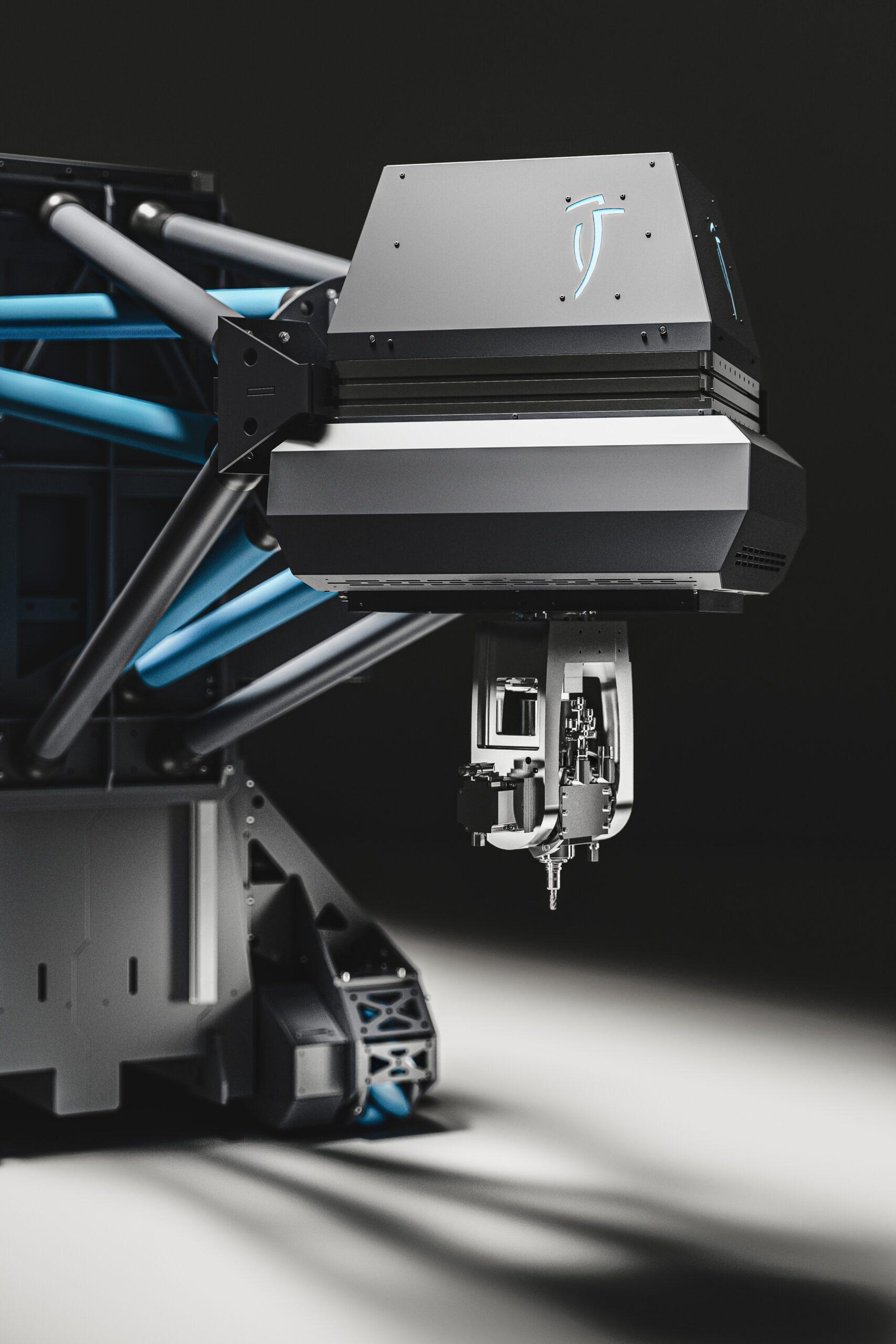 Nahaufnahme des Picum Maschinensystems, Fokus auf dem Kopf der Maschine