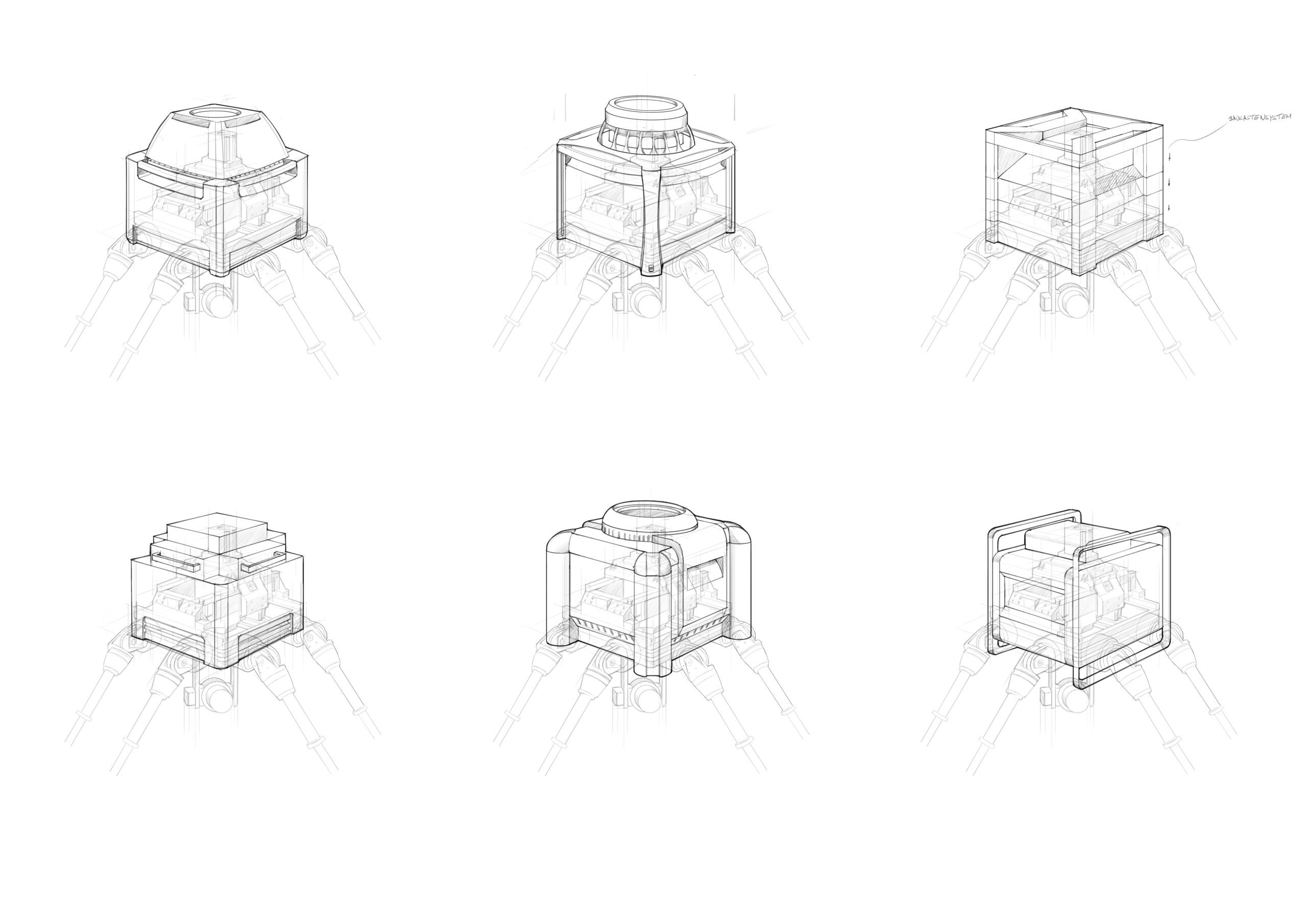 Skizzenvarianten der Picum MT